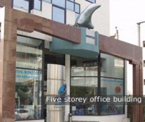 five storey office building